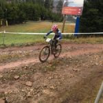 Katherine Shields competes in cycling championship