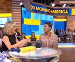 Good Morning America hosts discussing WFU's study on Weight Loss and Joint Pain