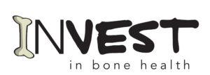 Logo: Invest in bone health (I is shaped like a bone)